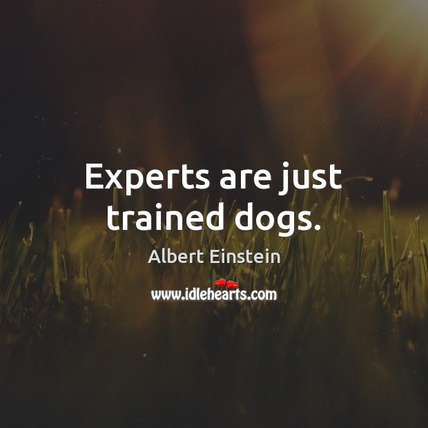 Image, Experts are just trained dogs.