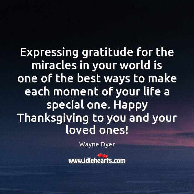 Image, Expressing gratitude for the miracles in your world is one of the