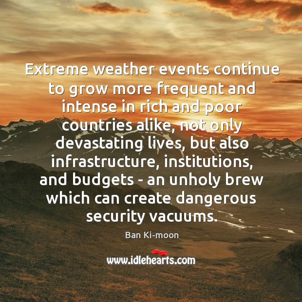 Extreme weather events continue to grow more frequent and intense in rich Image
