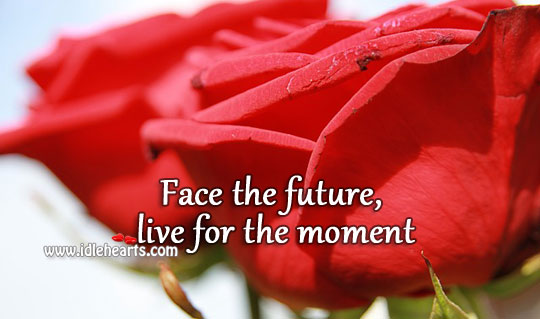 Words to live life by Future Quotes Image