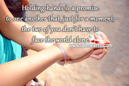 Holding hands is a promise to one another Image