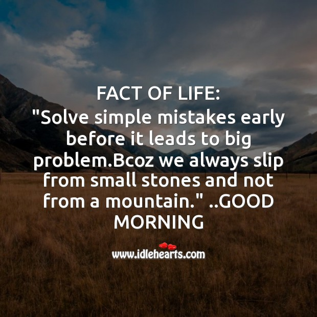 Fact of life: Good Morning Messages Image