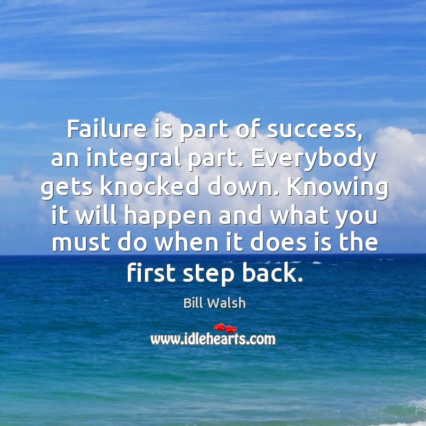 Image, Failure is part of success, an integral part. Everybody gets knocked down.