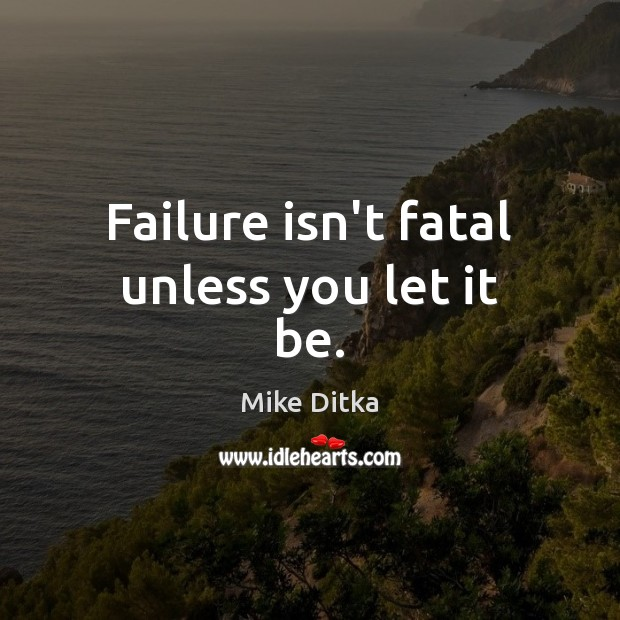 Image, Failure isn't fatal unless you let it be.