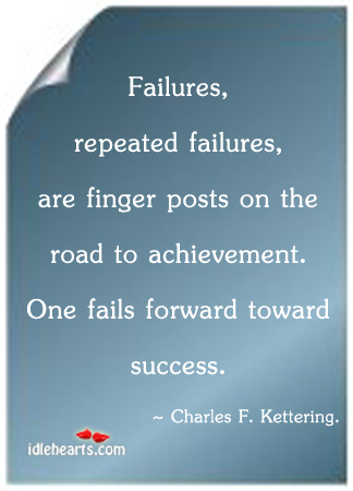 Failures, repeated failures, are finger posts on the Image