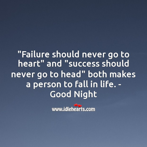 Image, Failure should never go to heart