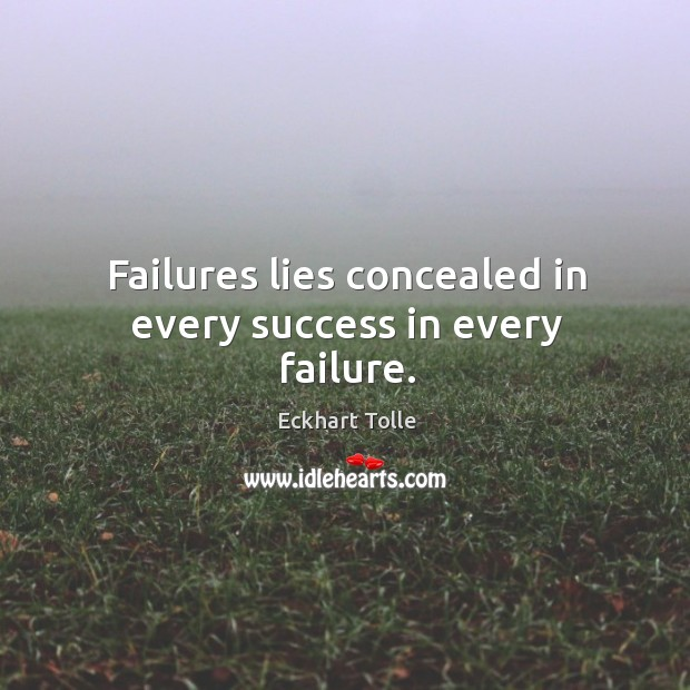 Failures lies concealed in every success in every failure. Image
