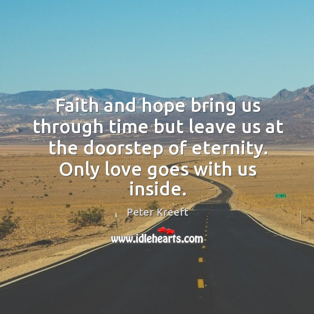 Faith and hope bring us through time but leave us at the Image