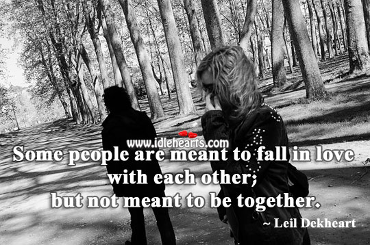 Image, Fall in love with each other