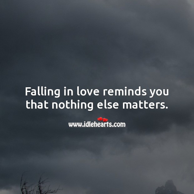 Falling in love reminds you that nothing else matters. Falling in Love Quotes Image