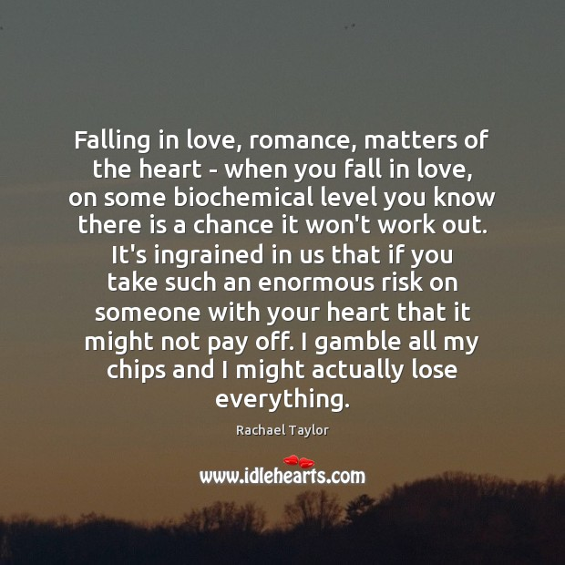 Image, Falling in love, romance, matters of the heart – when you fall