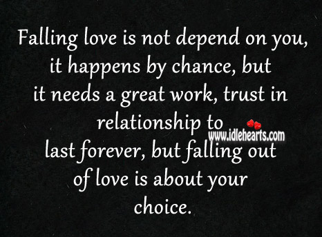 Love Happens By Chance, But It Needs A Great Work