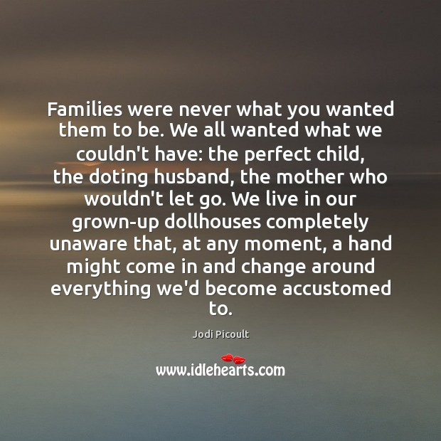 Image, Families were never what you wanted them to be. We all wanted