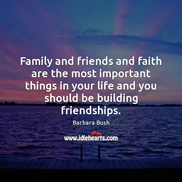 the most valuable thing in life is friendship Friends are the family you choose, and also the people you share most of life's  hardest and best times with in fact, there is nothing quite as.