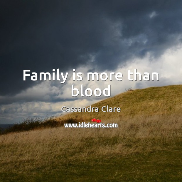 Family is more than blood Image