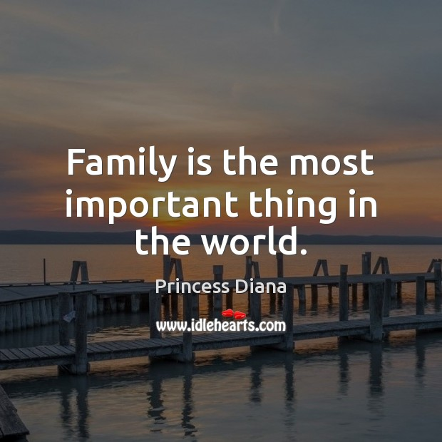 Family is the most important thing in the world. Image
