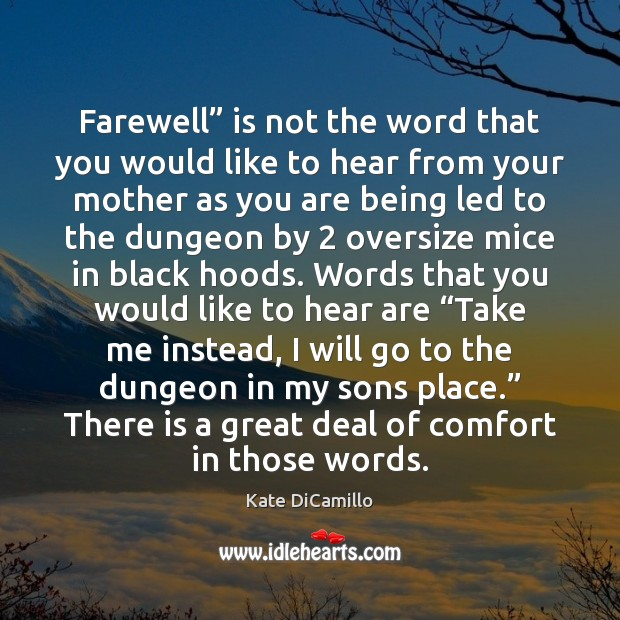 "Farewell"" is not the word that you would like to hear from Image"