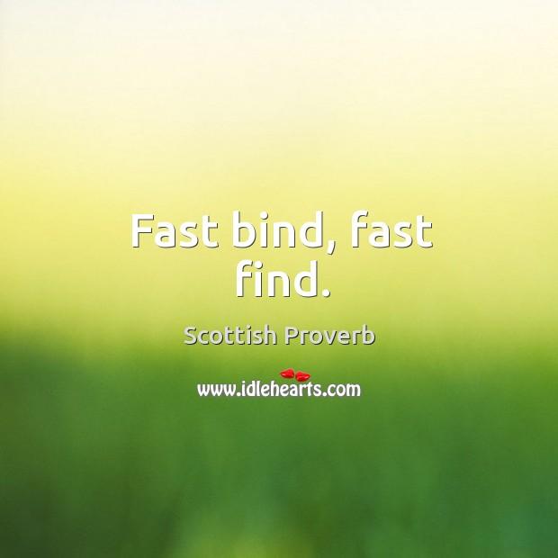 Image, Fast bind, fast find.