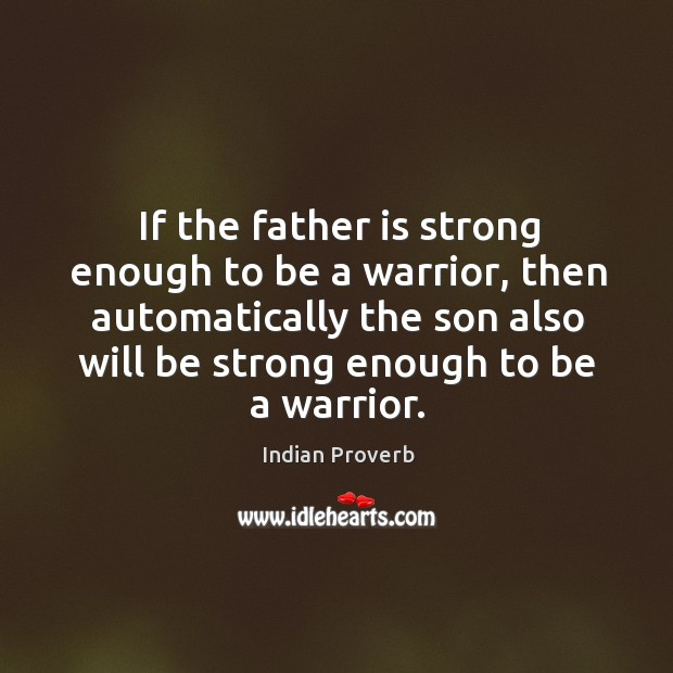 Father warrior, son warrior Image