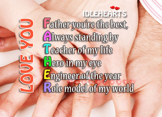 Dad, you mean the world to me! Father's Day Quotes Image