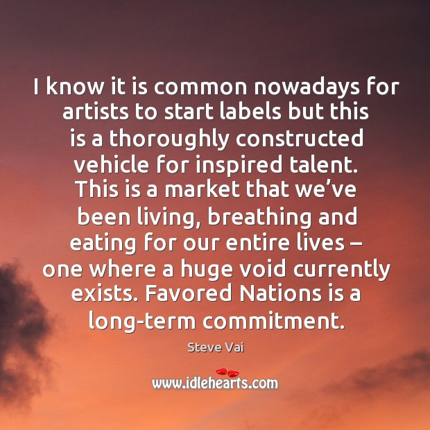 Favored nations is a long-term commitment. Image