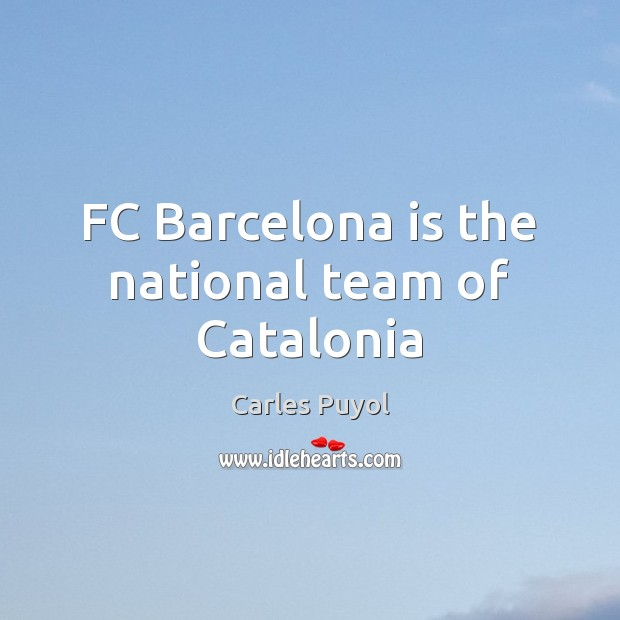 Image, FC Barcelona is the national team of Catalonia