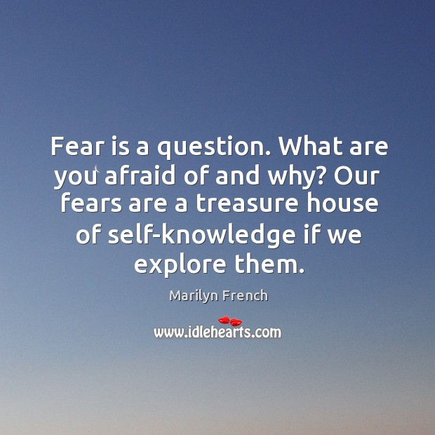Image, Fear is a question. What are you afraid of and why?