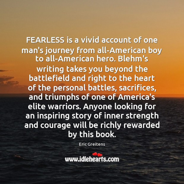 Image, FEARLESS is a vivid account of one man's journey from all-American boy