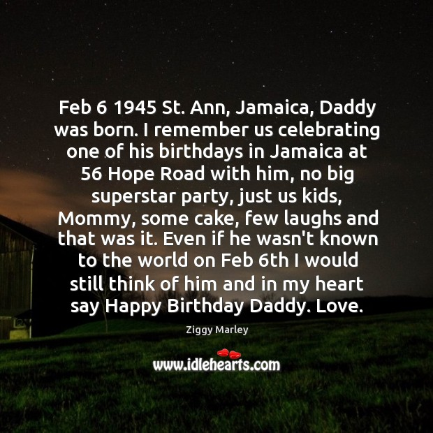 Image, Feb 6 1945 St. Ann, Jamaica, Daddy was born. I remember us celebrating one
