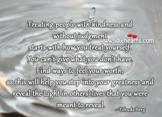 Treat people with kindness Image