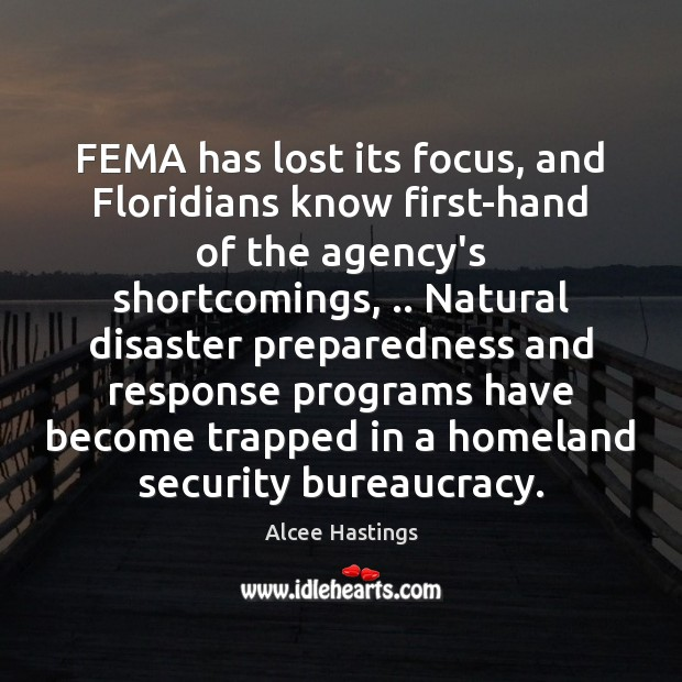 Image, FEMA has lost its focus, and Floridians know first-hand of the agency's