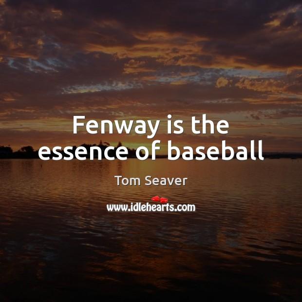 Fenway is the essence of baseball Image