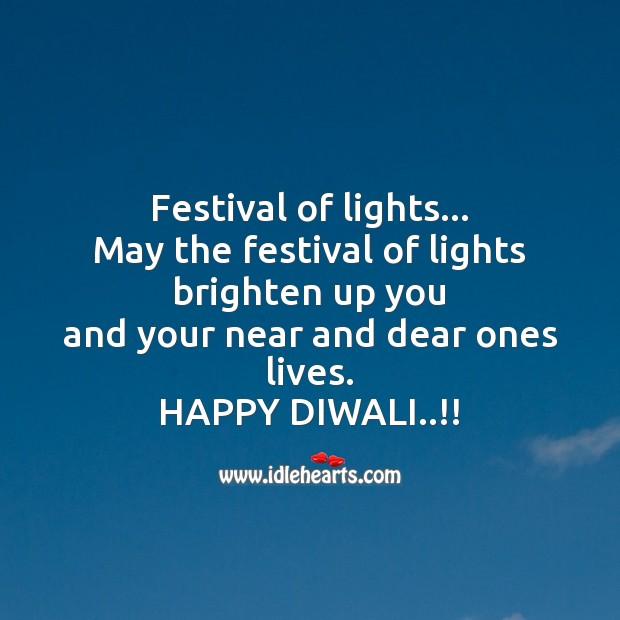Festival of lights Diwali Messages Image