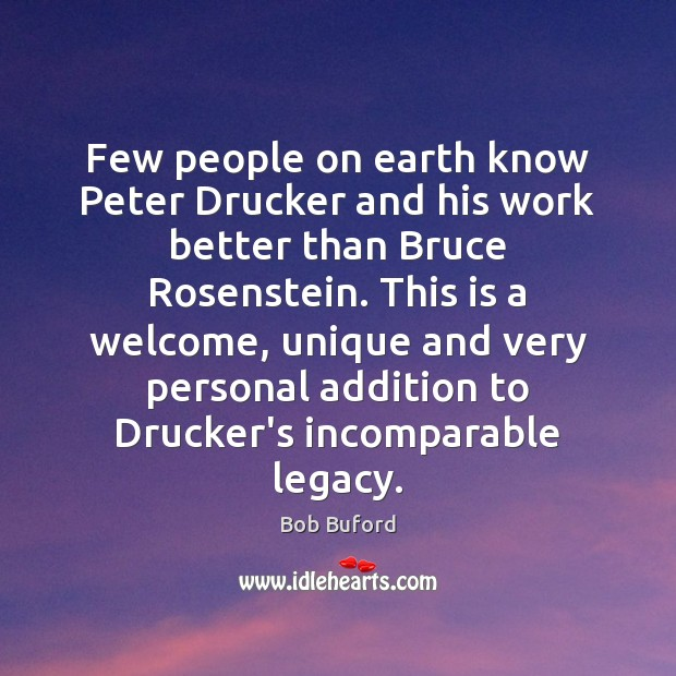 Image, Few people on earth know Peter Drucker and his work better than