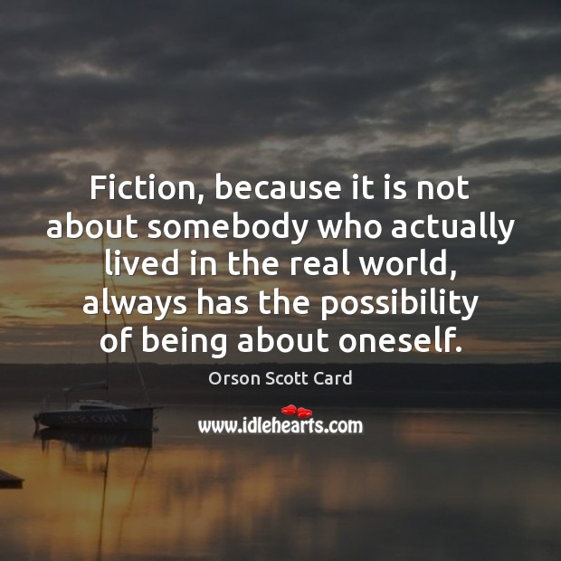 Fiction, because it is not about somebody who actually lived in the Image
