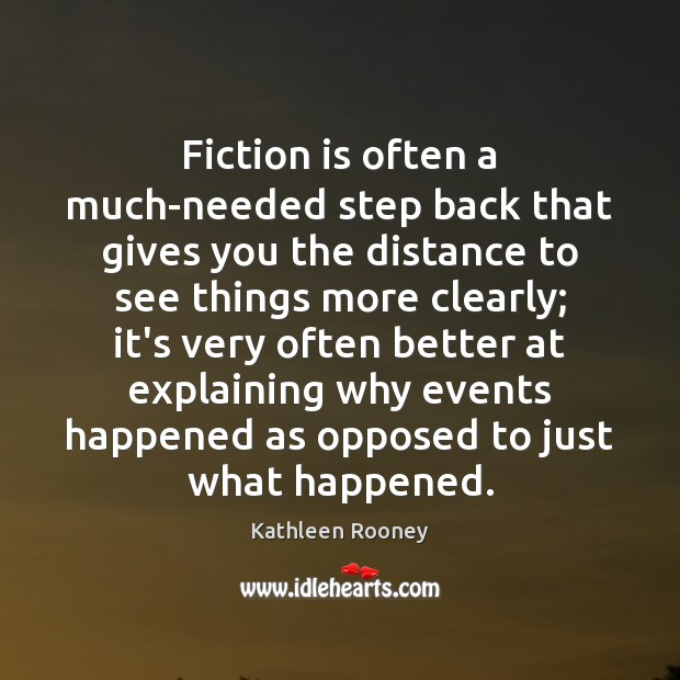 Image, Fiction is often a much-needed step back that gives you the distance