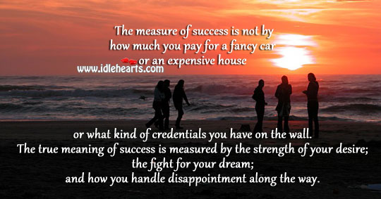 True meaning of success Image