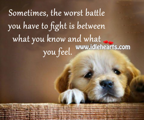 The Worst Battle You Have To Fight
