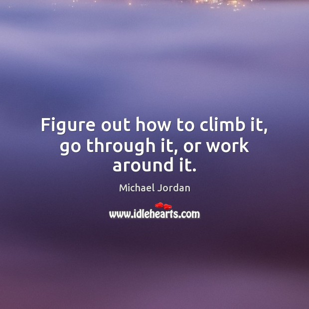 Image, Figure out how to climb it, go through it, or work around it.