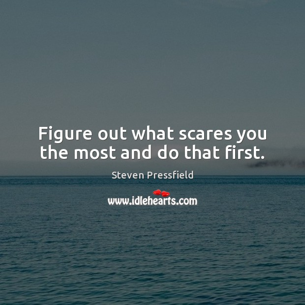Image, Figure out what scares you the most and do that first.