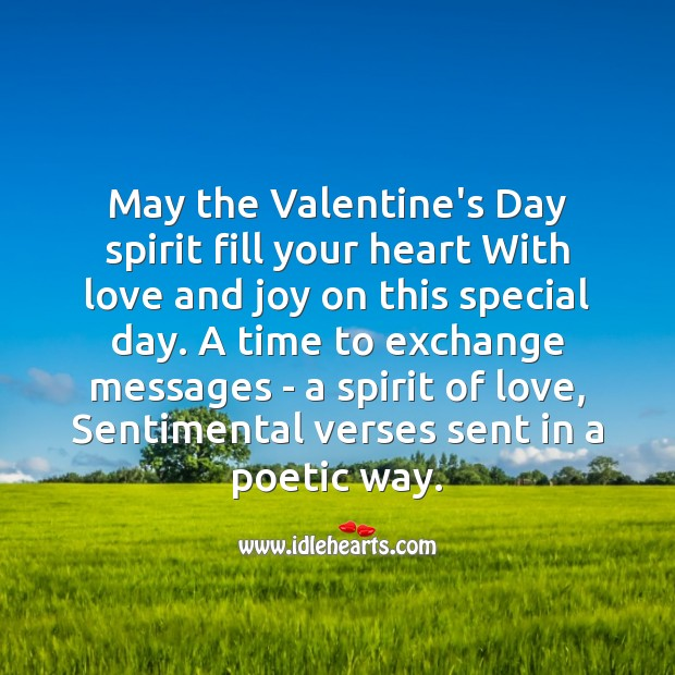 Fill your heart with love and joy Valentine's Day Messages Image