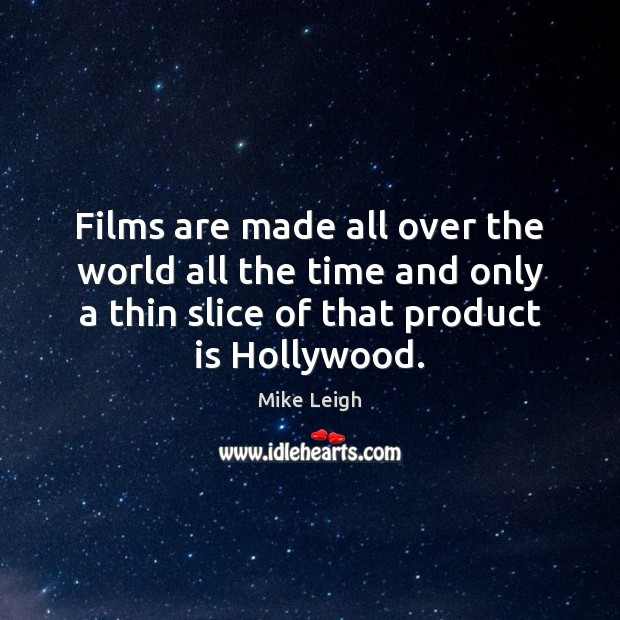 Films are made all over the world all the time and only Image