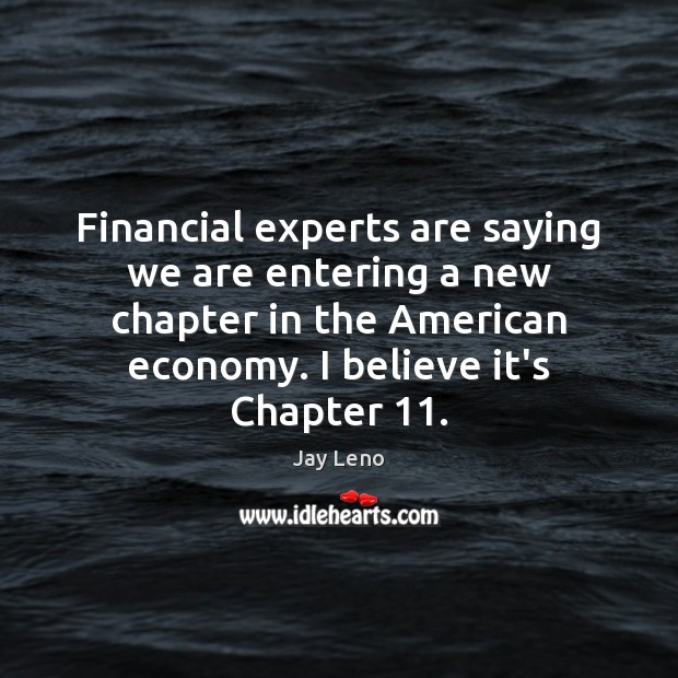 Image, Financial experts are saying we are entering a new chapter in the