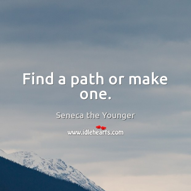 Image, Find a path or make one.