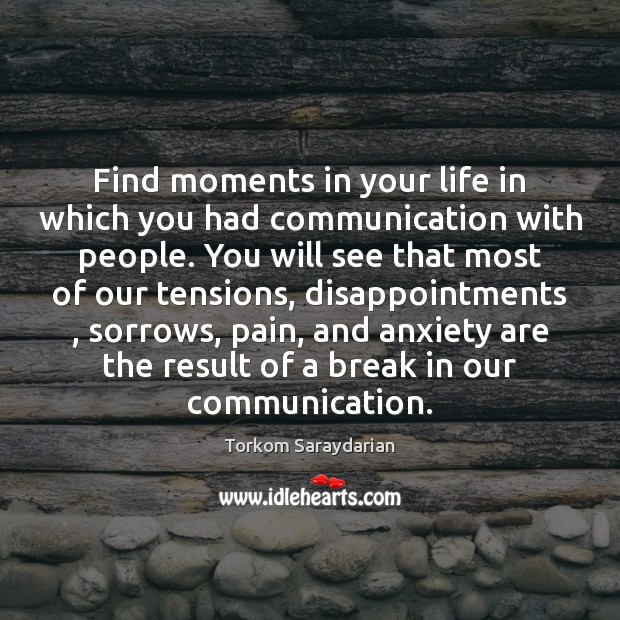 Find moments in your life in which you had communication with people. Image