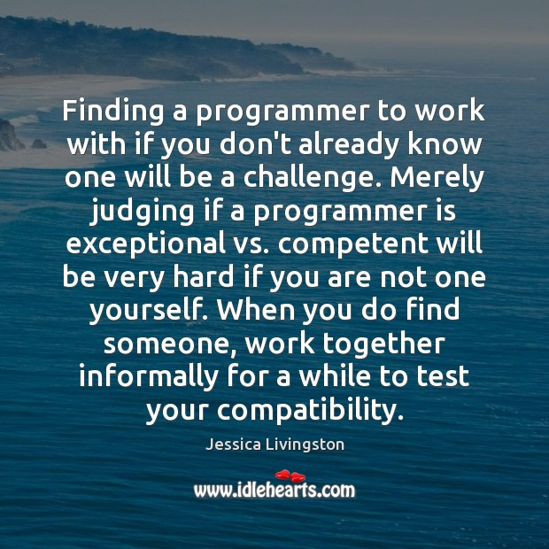 Image, Finding a programmer to work with if you don't already know one