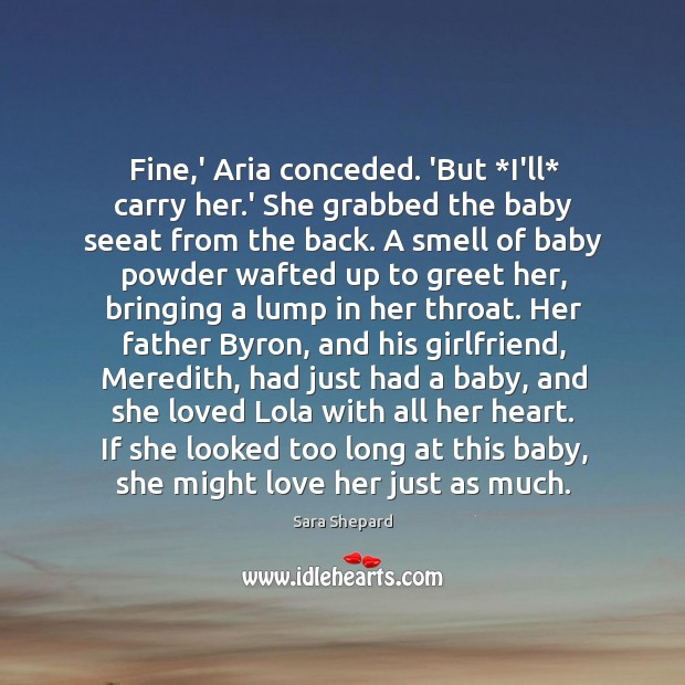 Fine,' Aria conceded. 'But *I'll* carry her.' She grabbed the Image
