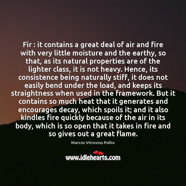 Image, Fir : it contains a great deal of air and fire with very