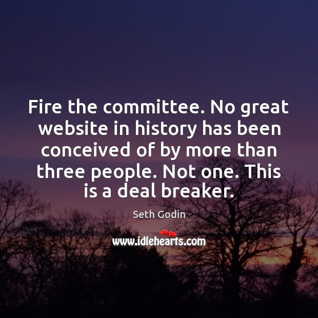 Fire the committee. No great website in history has been conceived of Image