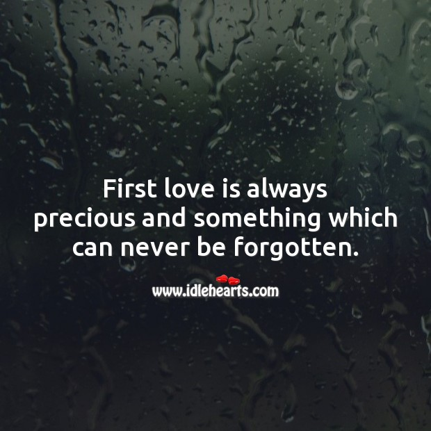 Image, First love is always precious.